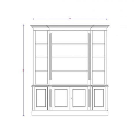 Cabinet Ecs by Ecs Breakfront Bookcase Block Chisel