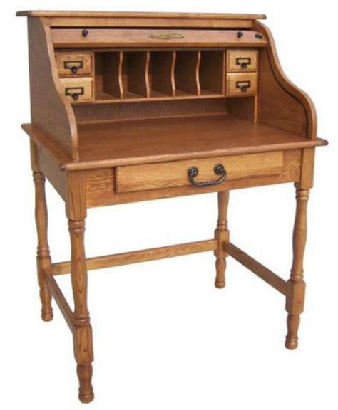 28 quot oak mini rolltop desk antique harvest