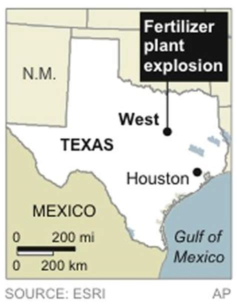 west texas explosion map explosion rips through texas fertilizer plant picture west texas fertilizer plant explodes