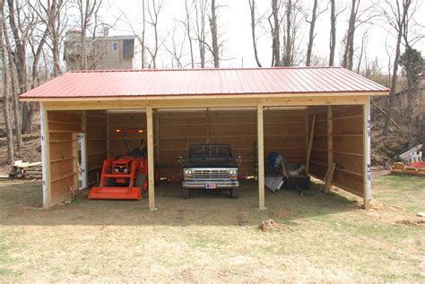 Diy Pole Shed by Building A Pole Barn 171 Diy