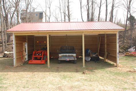 building  pole barn redneck diy