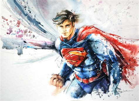 Speed Painting Superman By Abstractmusiq On Deviantart
