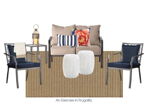 pottery barn inspired pottery barn inspired budget patio set an exercise in