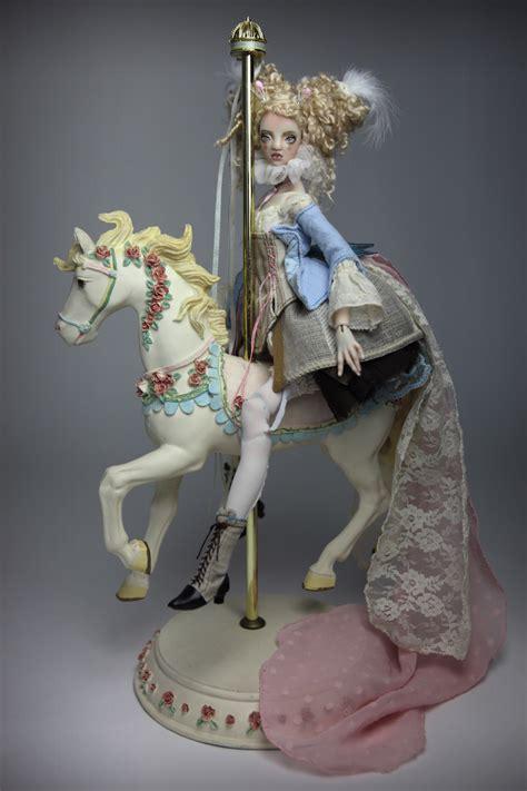 porcelain doll on carousel bjd dolls jointed dolls porcelain bjd dolls by