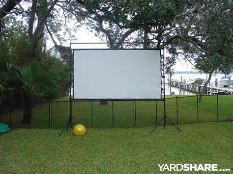 backyard theater screen landscaping ideas gt outdoor theater yardshare com