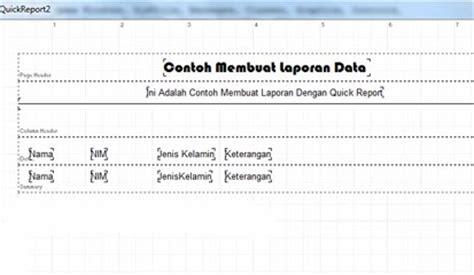 laporan tutorial ut cara membuat laporan pertanggal menggunakan delphi 7 dan