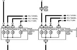 wiring diagram for nissan x trail i need the colour coding for the brake turn and runni