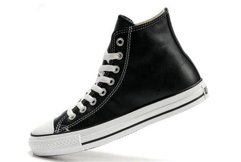 Converse Classic Ox Hi Black vnus7028 classic converse chuck all ox black leather high