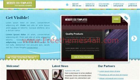 Ajax Css Jquery Blue Website Template Download Ajax Website Template