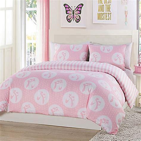 pink reversible comforter lala bash plie dots reversible comforter set in pink