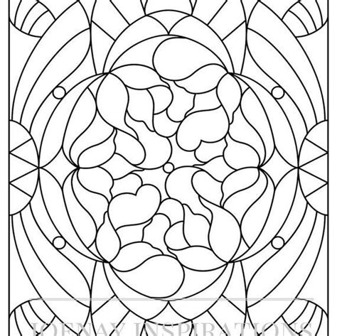 coloring book for adults stress relieving stained glass 126 best uncolored printable pages images on