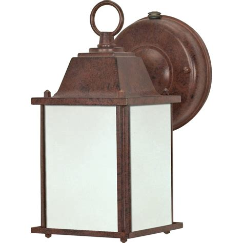 Photocell Light Fixtures Nuvo Lighting 62528 1 Light Twist Lock Base 4 4 Quot Bronze Finish With Frosted Glass Wall