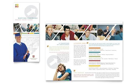 College & University Brochure Template   Word & Publisher