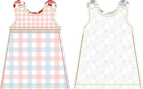 clothes pattern for baby step 8 sew the sides of both dresses until the pattern marks