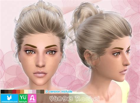 ponytailsims 4 child sims 4 hairs newsea yu093 rachel high ponytail with bow