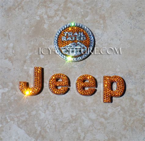 Colored Jeep Emblems Icy Couture Bedazzled Jeep Emblems Select Your Set