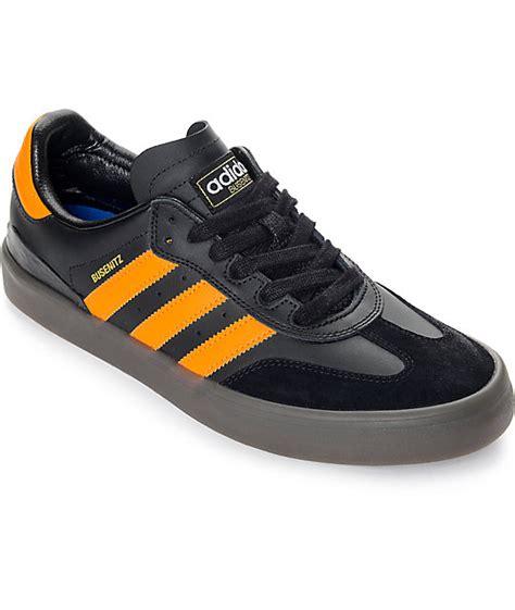 Adidas Samba Black Orange adidas busenitz vulc samba black orange gum shoes zumiez