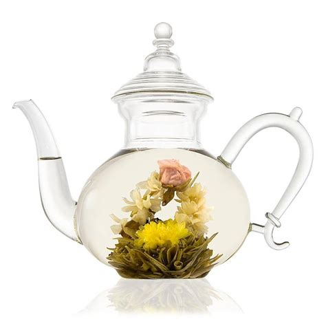 glass teapot with glass teapot with filter 800ml by the