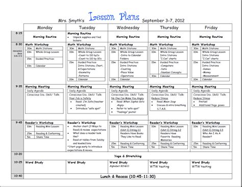 special education standards based lesson plan templates tpt