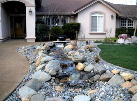 rock front yard landscaping ideas neutral house painting designed before front yard
