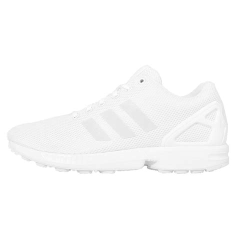 all white mens sneakers adidas originals zx flux all white out mens running shoes