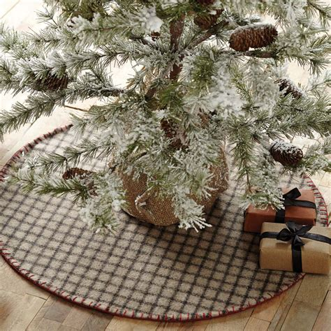 weston grey felt mini christmas tree skirt the weed patch