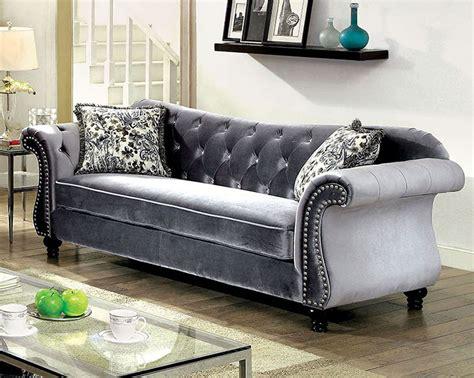 furniture of america sofa reviews jolanda sofa gray furniture of america 2 reviews