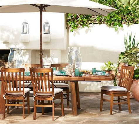 Pottery Barn Patio Table Benchwright Outdoor Rectangular Extending Dining Table Pottery Barn