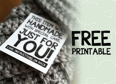 Handmade With Care - printable labels for handmade items monkeys