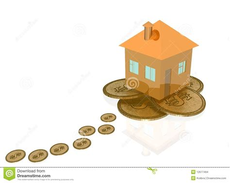 to mortgage a house mortgage road to a house stock images image 12677494