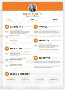 Cool Resume Templates by 30 Amazing Resume Psd Template Showcase Streetsmash
