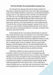 benefits of learning english as a second language essay image result for benefits of learning english as a second language essay