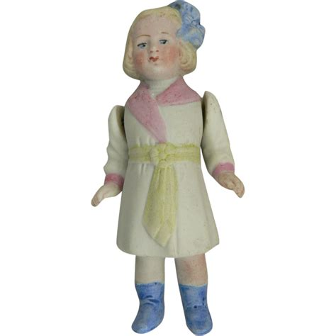 bisque doll painted miniature jointed bisque doll painted from