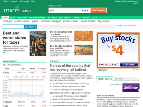 msn com stock market abbreviations for microsoft 10hotmail com