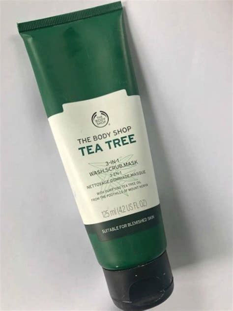 Masker Tea Tree Shop the shop tea tree 3 in 1 wash scrub mask review
