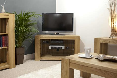 tv cabinet in living room solid oak furniture corner television cabinet stand unit ebay