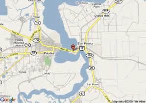 where is palatka florida on a map map of best western inn of palatka east palatka