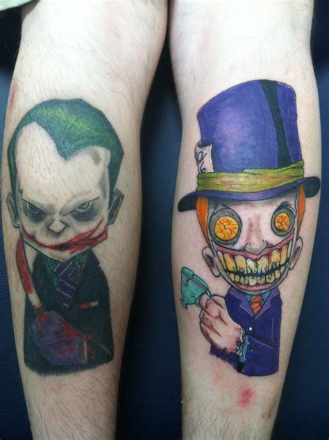 joker hat tattoo joker and mad hatter tattoo by threedayslong on deviantart