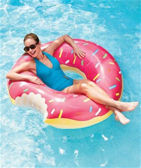 funny donut inner tube round swimming circle pool floating
