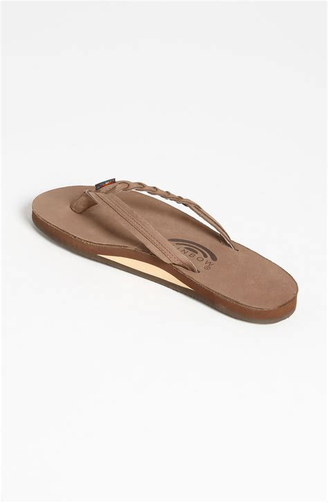 how to in rainbow sandals rainbow sandals flirty braided leather flip flop in