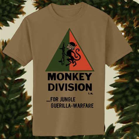 Slieve T Shirts Rown Division monkey division brown green orange t shirt on storenvy