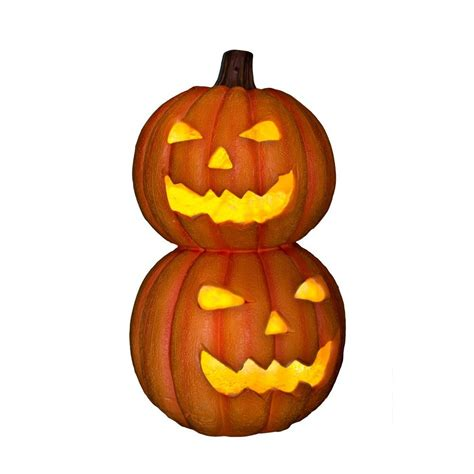 2 ft fogging pumpkin totem 58327 the home depot