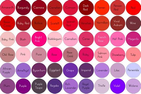 pink purple color best 25 hair color names ideas on color names