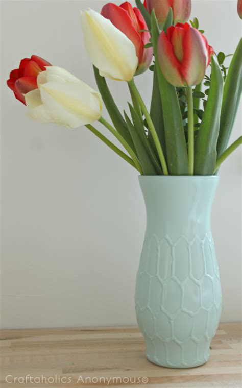 Make A Vase Into A L by Craftaholics Anonymous 174 Diy Honeycomb Vase Tutorial