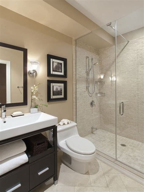 bathroom attractive design for modern small space bathroom decoration using white glass tile