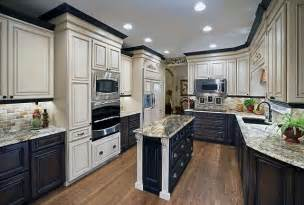 different colored kitchen cabinets mixing colors for a dramatic look traditional kitchen