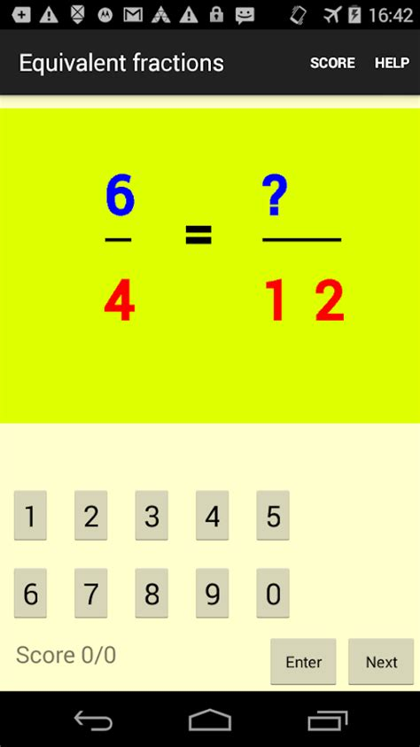 Homework Solution by Homework Sheet 8 Equivalent Fractions