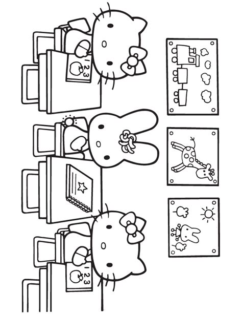 hello kitty at school coloring pages hello kitty at school coloring page h m coloring pages