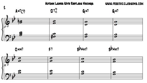piano tutorial jazz chords how to apply 10 new piano chords to the jazz tune autumn