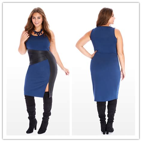 new fashion casual large size bodycon dress
